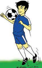 Menghentikan bola dengan kaki bagian dada