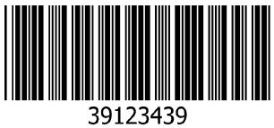 Contoh Barcode dengan code 39
