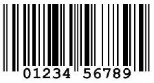 Contoh barcode UPC