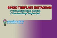 bingo template instagram